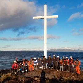Cruz de Fortescue y la primera misa en el territorio que sería Chile