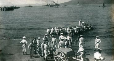 Desembarcando en Papudo y Puerta de los Leones