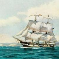 El teniente Raymond Morris, comandante del primer buque de la Armada de Chile