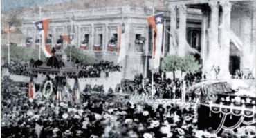 El traslado de los restos de Prat, Serrano y Aldea