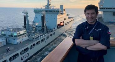 Oficiales chilenos en FOST: Delivering world class sea training