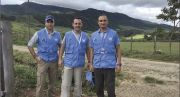 Marinos chilenos en la misión de Naciones Unidas en Colombia
