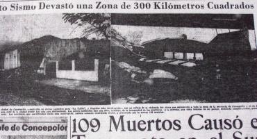 Apoyo del crucero O'Higgins a victimas del terremoto de 1960