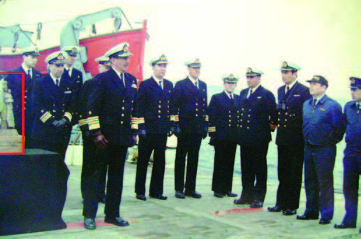 Ceremonia a bordo AP Piloto Pardo. (1982).